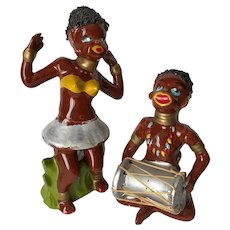 Vintage Black Americana African Tribal Figurines