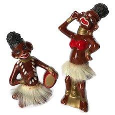 Black Americana African Tribal Figurines c. 1950's