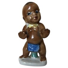 Black Americana African Dancing Baby Boy Figurine