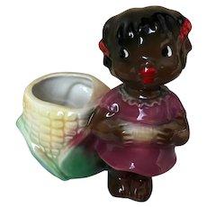 Black Americana Girl Eating Corn Planter