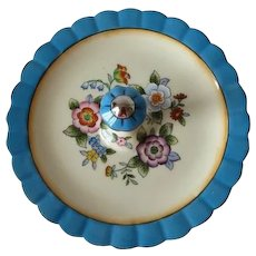 Vintage Noritake Floral Plate With Center Handle