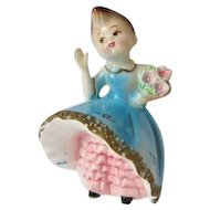 Vintage Lefton Bloomer Girl Figurine