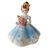 Vintage Josef Original APRIL Birthstone Doll Figurine