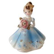 Vintage Josef Original APRIL Birthstone Doll Figurine