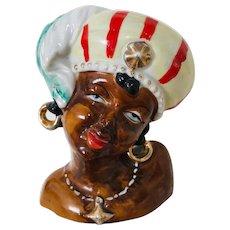 Vintage African Lady Headvase
