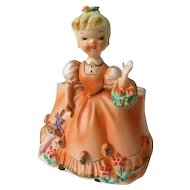 Vintage Rubens Young Lady Figurine Planter