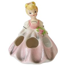 Adorable Figurine Vintage Lipstick Holder