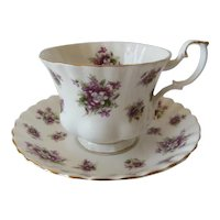 Royal Albert Sweet Violets Pattern Teacup and Saucer