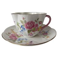 SHELLEY Rose Floral Dainty Tea Cup and Saucer