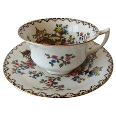 Aynsley PAGODA Patterned Tea Cup and Saucer