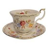 Royal Albert JUBILEE ROSE Pattern Teacup and Saucer