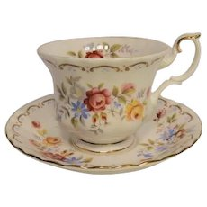 Royal Albert JUBILEE ROSE Pattern Tea Cup and Saucer