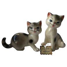 "Vintage Japan ""Kittens by Karen"" Porcelain Figurines ""I'm Cutie Pie"""