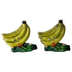 Vintage Anthropomorphic Banana Head Salt and Pepper Shakers