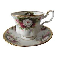 Royal Albert Celebration Pattern Teacup and Saucer