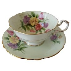 Vintage PARAGON Sweet Pea Teacup and Saucer