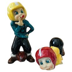 Vintage Norcrest Whimsical Football Figurines