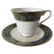 """Royal Doulton """"Carlyle"""" (H.5018) Pattern Tea Cup and Saucer"""