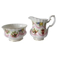 Royal Albert Our Emblems Dear Cream & Sugar