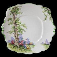 Royal Albert Greenwood Tree Cake Plate