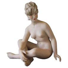 Vintage Wallendorf Fine Porcelain Large Nude Figurine
