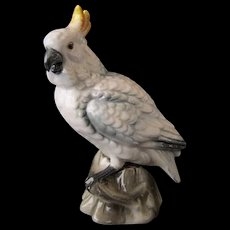 Vintage Cockatoo Figurine - Shafford Bird Collection