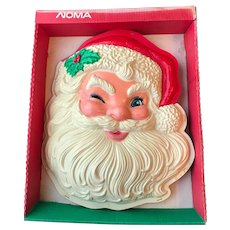 Vintage Illuminated 3D Santa Face