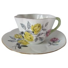 Shelley Roses Dainty Tea Cup and Saucer