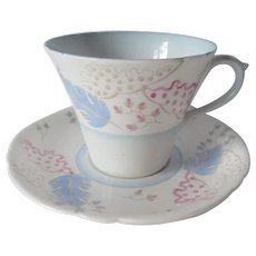 Shelley Art Deco Styled Tea Cup and Saucer