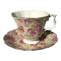 Royal Albert Rose Chintz Tea Cup and Saucer