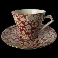 Royal Brocade Chintz Tea Cup and Saucer by Lord Nelson Ware