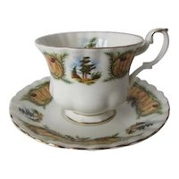 Royal Albert Knotty Pine Teacup and Saucer