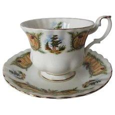 Royal Albert Knotty Pine Tea Cup and Saucer