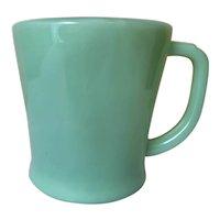Fire King Jadeite Flat Bottom Shaving Mug