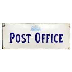 Original Porcelain Enamel Post Office Sign