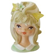 Vintage Parma Adorable Young Girl Head Vase