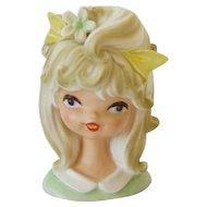 Vintage Parma Adorable Young Girl Head Vase