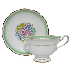 Early Royal Albert Handpainted Tea Cup and Saucer Set