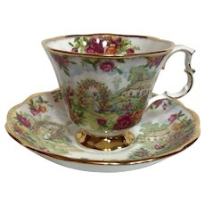 Royal Albert 25th. Anniversary of Old Country Roses Tea Cup and Saucer