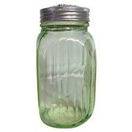 Anchor Hocking Green Depression Glass Range Shaker