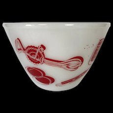 Vintage Fire King Kitchen Aids Mixing Bowl 7.5""