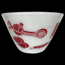 Vintage Fire King Kitchen Aids Mixing Bowl 8.5""