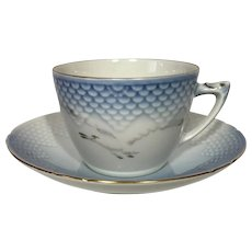Bing & Grondahl Seagull Tea Cup and Saucer #475
