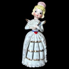Vintage Japan Napkin Girl Sweetheart Figurine