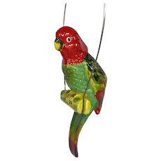 Vintage Napco Large Hanging Parrot Planter