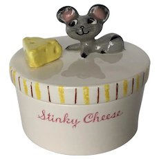 Vintage Napco Stinky Cheese Kitchen Container c.1950's