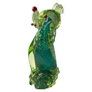 Vintage Murano Uranium Glass Poodle