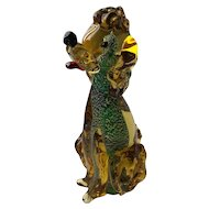 Vintage Sommerso Murano Glass Poodle