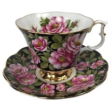 Royal Albert Rambler Rose Chintz Tea Cup and Saucer