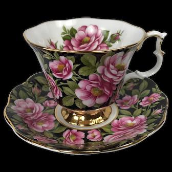 Royal Albert Rambler Rose Chintz Tea Cup and Saucer
